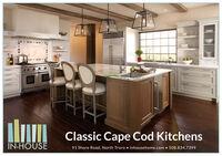 P-D-D-5Classic Cape Cod KitchensIN-HOUSE91 Shore Road, North Truro  inhousehome.com  508.834.7399 P-D-D-5 Classic Cape Cod Kitchens IN-HOUSE 91 Shore Road, North Truro  inhousehome.com  508.834.7399