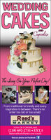 WEDDINGCAKESANDCapcalesThe Shing Oo You Pafet Day !From traditional to trendy and everyinspiration in between. There's noorder too tall or too small!Reed'sMARKE T35561 CR 3 CROSSLAKE(218) 692-2711  EXT.1Bakery@ReedsMarket.com (email)See our photos on Facebook f WEDDING CAKES AND Capcales The Shing Oo You Pafet Day ! From traditional to trendy and every inspiration in between. There's no order too tall or too small! Reed's MARKE T 35561 CR 3 CROSSLAKE (218) 692-2711  EXT.1 Bakery@ReedsMarket.com (email) See our photos on Facebook f