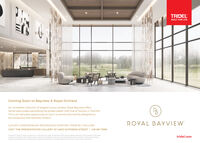 TRIDELBUILT FOR LIFELive ExceptionallyComing Soon to Bayview & Royal OrchardAn incredible collection of elegant luxury condos, Royal Bayview offershome-sized suites overlooking the private Ladies' Golf Club of Toronto in Thornhill.This is an exclusive opportunity to live in a community lavishly designed tobe sumptuous and serenely modern.ROYAL BAYVIEWLUXURY CONDOMINIUM RESIDENCES STARTING FROM $1.2 MILLIONVISIT THE PRESENTATION GALLERY AT 480O DUFFERIN STREET | 416 661 7699Ct tar teatrDig t t a d t of ras Prctreand logon e ad e mpe r A Bungsetchargn wthatto i the nn tttated des Go Dbof too LGE Ma naurscorot oice ind spttridel.com TRIDEL BUILT FOR LIFE Live Exceptionally Coming Soon to Bayview & Royal Orchard An incredible collection of elegant luxury condos, Royal Bayview offers home-sized suites overlooking the private Ladies' Golf Club of Toronto in Thornhill. This is an exclusive opportunity to live in a community lavishly designed to be sumptuous and serenely modern. ROYAL BAYVIEW LUXURY CONDOMINIUM RESIDENCES STARTING FROM $1.2 MILLION VISIT THE PRESENTATION GALLERY AT 480O DUFFERIN STREET | 416 661 7699 Ct tar teatrDig t t a d t of ras Prctre and logon e ad e mpe r A Bung setchargn wthatto i the nn tttated des Go Dbof too LGE Ma n aurscorot oice ind spt tridel.com