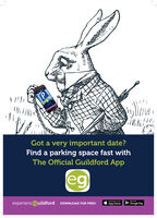 Got a very important date?Find a parking space fast withThe Official Guildford AppDownload on cheexperienceguildford DOWNLOAD FOR FREE!App StoreGoogle Play Got a very important date? Find a parking space fast with The Official Guildford App  Download on che experienceguildford DOWNLOAD FOR FREE! App Store Google Play