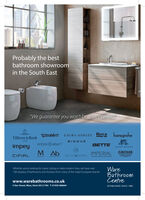"Probably the bestbathroom showroomin the South East""We guarantee you won't be disappointed""DDURAVITLAURA ASHLEY Roca hansgroheVilleroy & Boch1748BISQUEvictoria O albert""BETTEimpeyLEFROY DROOKS(AB AIMPERIALGROHECIFIALashton@bentleyMERIYNCLASSCAL BTSGATOOMSWareBathroomCentreWhether you're looking for classic styling or sleek modern lines, we have over100 displays of bathrooms and showers from many of the major European brands.www.warebathrooms.co.uk4 Star Street, Ware, Herts SG12 7AA T:01920 468664ESTABLISHED SINCE 1980 Probably the best bathroom showroom in the South East ""We guarantee you won't be disappointed"" DDURAVIT LAURA ASHLEY Roca hansgrohe Villeroy & Boch 1748 BISQUE victoria O albert"" BETTE impey LEFROY DROOKS (AB  A IMPERIAL GROHE CIFIAL ashton@bentley MERIYN CLASSCAL BTSGATOOMS Ware Bathroom Centre Whether you're looking for classic styling or sleek modern lines, we have over 100 displays of bathrooms and showers from many of the major European brands. www.warebathrooms.co.uk 4 Star Street, Ware, Herts SG12 7AA T:01920 468664 ESTABLISHED SINCE 1980"