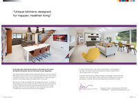 """""""Unique kitchens designedfor happier, healthier living""""It has often been said that the kitchen is the heart of your home.We believe the kitchen can be at the heart of your happiness.A client recently told us """"We love our new kitchen, it has changedour lives. You have transformed a space we hated to spend time ininto the best room in our house.""""Your dream kitchen design will be inspired by how you use your kitchen.We'll take the time to learn how many people get involved in the cooking.understand the flow of your home, and appreciate the value that everymember of the family plays in the daily routine of your ife.And that's what drives us. What motivates us to design a kitchen that willtransform your home. Where there's space for everything and a place foreverybody. A kitchen that will encourage those connections to grow.We want you to feel connected with the people around you. To create aliving space that nurtures those instincts to reach out and communicate.To drink coffee with friends and eat roast dinners with family. To fippancakes with the kids and experience new foods with your partner.To make new memories and enjoy your time together.burShipston On Stour, Warwickshire CV36 4EW01608 690 870 www.bowerwillisdesigns.co.ukBOWER WILLIS DESIGNS """"Unique kitchens designed for happier, healthier living"""" It has often been said that the kitchen is the heart of your home. We believe the kitchen can be at the heart of your happiness. A client recently told us """"We love our new kitchen, it has changed our lives. You have transformed a space we hated to spend time in into the best room in our house."""" Your dream kitchen design will be inspired by how you use your kitchen. We'll take the time to learn how many people get involved in the cooking. understand the flow of your home, and appreciate the value that every member of the family plays in the daily routine of your ife. And that's what drives us. What motivates us to design a kitchen that will transform your home. Where ther"""