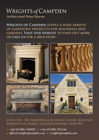 WRIGHTS of CAMPDENArchitectural Stone MasonsWRIGHTS OF CAMPDEN SUPPLY A WIDE VARIETYOF LIMESTONE PRODUCTS FOR BUILDINGS ANDGARDENS. VISIT OUR WEBSITE TO FIND OUT MOREOR CALL US FOR A BROCHURE.OOUNITS 104 - 106, NORTHWICK BUSINESS CENTRE, BLOCKLEY,MORETON-IN-MARSH, GLOUCESTERSHIRE, GL56 9RFt: +44 (01386) 700497 f: +44 (01386) 701144e: office@wrightsofcampden.com w: wrightsofcampden.com WRIGHTS of CAMPDEN Architectural Stone Masons WRIGHTS OF CAMPDEN SUPPLY A WIDE VARIETY OF LIMESTONE PRODUCTS FOR BUILDINGS AND GARDENS. VISIT OUR WEBSITE TO FIND OUT MORE OR CALL US FOR A BROCHURE. OO UNITS 104 - 106, NORTHWICK BUSINESS CENTRE, BLOCKLEY, MORETON-IN-MARSH, GLOUCESTERSHIRE, GL56 9RF t: +44 (01386) 700497 f: +44 (01386) 701144 e: office@wrightsofcampden.com w: wrightsofcampden.com