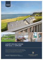 SHOW HOMEVIEWINGSRECOHMENDEDLUXURY HOLIDAY HOMESFOR SALE from £299,000Discover new horizons in 2010, by securing your very own corner of coastal heaven;opening the door to your own lumurious hideaway on the sought-after Lin Peninsula.Take the first step to ensuring unforgettable moments for generations to come,by scheduling a show-home viewing with our Property Specialists today.NATURAL LANDNature's Point, Nefyn Bay, Lln Peninsula, LLS3 6LR01625 839 453 I info@naturalland.co.uk I naturalland.co.ukREALISING RURAL POTENTIAL SHOW HOME VIEWINGS RECOHMENDED LUXURY HOLIDAY HOMES FOR SALE from £299,000 Discover new horizons in 2010, by securing your very own corner of coastal heaven; opening the door to your own lumurious hideaway on the sought-after Lin Peninsula. Take the first step to ensuring unforgettable moments for generations to come, by scheduling a show-home viewing with our Property Specialists today. NATURAL LAND Nature's Point, Nefyn Bay, Lln Peninsula, LLS3 6LR 01625 839 453 I info@naturalland.co.uk I naturalland.co.uk REALISING RURAL POTENTIAL