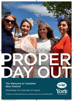 ENJOY APROPERDAY OUTThe Welcome to YorkshireEbor FestivalYorkWednesday 19 to Saturday 22 AugustTo book your raceday experience go to yorkracecourse.co.uk or call 01904 620911RACECOURSE0861 AB Yorkae Le March Adinda 11002020 1127 ENJOY A PROPER DAY OUT The Welcome to Yorkshire Ebor Festival York Wednesday 19 to Saturday 22 August To book your raceday experience go to yorkracecourse.co.uk or call 01904 620911 RACECOURSE 0861 AB Yorkae Le March Adinda 1 1002020 1127
