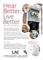earBetter.LiveBetter.LACLCLEEDS AUDIOLOGY CLINICLEEDS AUDIOLowith Leeds Audiology ClinicSuffering from hearing loss from a young age,.our Leeds born founder understands better thanmost the importance of being able to hear well.Our main goal at the Leeds Audiology Clinic is to helpthose suffering from hearing loss in a sensitive manner andcomfortable upmarket environment. We understand the serious impact ofhearing loss and take time to reassure and help clients in every way we can.From the moment you step through the door, we aim to offer you a differentexperience to High Street retailers. We are here to listen and help you throughyour journey to better hearing.Try the world's firstrechargeable hearing aidswith integrated sensors& artificial intelligenceVisit us for:Full Hearing Assessments · Ear Wax RemovalLatest Digital Hearing Solutions · In-ear Monitors for MusicGeneric & Custom Hearing Protection for Sport & IndustryMedico-legal Testing Hearing Aid Batteries & AccessorieslivioLEEDS AUDIOLOGY CLINIC29 Park Square West Leeds · LS1 2PQcall us today on: 0113 8800 190 - visit: leedsaudiologyclinic.co.uk ear Better. Live Better. LAC LC LEEDS AUDIOLOGY CLINIC LEEDS AUDIOLo with Leeds Audiology Clinic Suffering from hearing loss from a young age,. our Leeds born founder understands better than most the importance of being able to hear well. Our main goal at the Leeds Audiology Clinic is to help those suffering from hearing loss in a sensitive manner and comfortable upmarket environment. We understand the serious impact of hearing loss and take time to reassure and help clients in every way we can. From the moment you step through the door, we aim to offer you a different experience to High Street retailers. We are here to listen and help you through your journey to better hearing. Try the world's first rechargeable hearing aids with integrated sensors & artificial intelligence Visit us for: Full Hearing Assessments · Ear Wax Removal Latest Digital Hearing Solutions · In