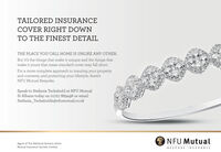 TAILORED INSURANCECOVER RIGHT DOWNTO THE FINEST DETAILTHE PLACE YOU CALL HOME IS UNLIKE ANY OTHER.But it's the things that make it unique and the things thatmake it yours that mean standard cover may fall short.For a more complete approach to insuring your propertyand contents, and protecting your lifestyle, there'sNFU Mutual Bespoke.Speak to Stefania Tschabold at NFU MutualSt Albans today on 01727 869496 or emailStefania_Tschaboldz@nfumutual.co.ukNFU MutualAgent of The National Farmers UnionMutual Insurance Society Limited.BESPOKE INSURANCE TAILORED INSURANCE COVER RIGHT DOWN TO THE FINEST DETAIL THE PLACE YOU CALL HOME IS UNLIKE ANY OTHER. But it's the things that make it unique and the things that make it yours that mean standard cover may fall short. For a more complete approach to insuring your property and contents, and protecting your lifestyle, there's NFU Mutual Bespoke. Speak to Stefania Tschabold at NFU Mutual St Albans today on 01727 869496 or email Stefania_Tschaboldz@nfumutual.co.uk NFU Mutual Agent of The National Farmers Union Mutual Insurance Society Limited. BESPOKE INSURANCE