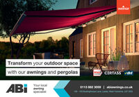 weinorTransform your outdoor spacewith our awnings and pergolasWhich? CERTASS vdhfTrusted traderABIYour local0113 882 3059   abiawnings.co.ukawningspecialist159 - 163 Buslingthorpe Lane, Leeds, West Yorkshire, LS7 2DQ weinor Transform your outdoor space with our awnings and pergolas Which? CERTASS vdhf Trusted trader ABI Your local 0113 882 3059   abiawnings.co.uk awning specialist 159 - 163 Buslingthorpe Lane, Leeds, West Yorkshire, LS7 2DQ