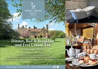 """WREA HEADHALL****A COUNTRY HOUSE HCTELDinner, Bed & Breakfastand Free Cream Tea""""Scarborough's FairestSPRING OFFERClassic Room £154.90 