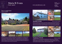 Maria B EvansFor SalesDavina A Gor Saly a WoodT.01772 737888E nbw.cEstate Agentswww.mariabevans.co.ukFor RentalsMariaEvansT.01257 402095Price on applicationBispham, L40 3SS VMawdesley, L40 2RFOffers in the region of £650,000Rarely does a cottage of this era have the flow of accommodation which Ridley Cottage offers, having three generouslysized and warmly inviting reception rooms plus garden room and a well-appointed pippy-oak kitchen with adjacent utilityroom and morning room. Filled with character and charm, this lovely home also has five bedrooms, two with en suitefacilities, and a luxury family buthroom. The landscaped gandens to the rear give away views over the adjoining paddockand the driveway provides parking for throofour cars alongside the two-storey single detachod garage and separate storr.Built some thirty years ago, this gentleman's residence appears a long-standing feature of the landscape with itsdetailed brick and stone work weaved into its architecture to form an outstanding home. The surrounding nineteenacres of parkland style gardens and grounds are reached via a sweeping driveway to the extensive parking areaakongside the house. The detachod brick barn incorporates trailer parking, stables, groom and event facilities and anextensive first floor games room with badminton court. The secluded and elevated location affords sublime, far-reaching rural aspects, has a tennis court, children's playground and natural pond. Within a few minutes drive there isaccess to local villages, amenties and motorway and rail networks.Wrightington, WN6 9SLGuide price of £630,000Dating back to 1713, this beautifully presented, detachod, former farmhouse just oozes character and charmthroughout its spacious and comfortable rooms which include two reception rooms, a well appointedbreakfast kitchen, four double bedrooms - one with shower room - and a luxury bathroom. The drivewayprovides parking for mumerous cars, leads to a single detached garage with integral office, and the 2.5 acres ofgrounds include formal gardens and paddocks with three timber stables alongside. Maria B Evans For Sales Davina A Gor Saly a Wood T.01772 737888 E nbw.c Estate Agents www.mariabevans.co.uk For Rentals MariaEvans T.01257 402095 Price on application Bispham, L40 3SS V Mawdesley, L40 2RF Offers in the region of £650,000 Rarely does a cottage of this era have the flow of accommodation which Ridley Cottage offers, having three generously sized and warmly inviting reception rooms plus garden room and a well-appointed pippy-oak kitchen with adjacent utility room and morning room. Filled with character and charm, this lovely home also has five bedrooms, two with en suite facilities, and a luxury family buthroom. The landscaped gandens to the rear give away views over the adjoining paddock and the driveway provides parking for throofour cars alongside the two-storey single detachod garage and separate storr. Built some thirty years ago, this gentleman's residence appears a long-standing feature of the landscape with its detailed brick and stone work weaved into its architecture to form an outstanding home. The surrounding nineteen acres of parkland style gardens and grounds are reached via a sweeping driveway to the extensive parking area akongside the house. The detachod brick barn incorporates trailer parking, stables, groom and event facilities and an extensive first floor games room with badminton court. The secluded and elevated location affords sublime, far- reaching rural aspects, has a tennis court, children's playground and natural pond. Within a few minutes drive there is access to local villages, amenties and motorway and rail networks. Wrightington, WN6 9SL Guide price of £630,000 Dating back to 1713, this beautifully presented, detachod, former farmhouse just oozes character and charm throughout its spacious and comfortable rooms which include two reception rooms, a well appointed breakfast kitchen, four double bedrooms - one with shower room - and a luxury bathroom. The driveway provides parking for mumerous cars, leads to a single detached garage with integral office, and the 2.5 acres of grounds include formal gardens and paddocks with three timber stables alongside.