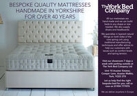 BESPOKE QUALITY MATTRESSESHANDMADE IN YORKSHIREFOR OVER 40 YEARSTheYork BedCompanyAll our mattresses arehand-made and we can buildbeds to any shape or sizeneeded. We also supplydivans and headboards.We specialise in layered naturalfillings on both sides of thecore spring unit usingtraditional manufacturingtechniques and offer advice tohelp our customers withissues such as comfort levelsand spring tension.SCALEDONIAVisit our showroom 7 days aweek with parking outside atThe York Bed Company LtdUnit 10 Acaster Estates,Cowper Lane, Acaster Malbis,York, YO23 2TXLet us help find the rightbespoke bed for you, call usnow on 01904 777070We can deliver anywhere in Europe BESPOKE QUALITY MATTRESSES HANDMADE IN YORKSHIRE FOR OVER 40 YEARS TheYork Bed Company All our mattresses are hand-made and we can build beds to any shape or size needed. We also supply divans and headboards. We specialise in layered natural fillings on both sides of the core spring unit using traditional manufacturing techniques and offer advice to help our customers with issues such as comfort levels and spring tension. SCALEDONIA Visit our showroom 7 days a week with parking outside at The York Bed Company Ltd Unit 10 Acaster Estates, Cowper Lane, Acaster Malbis, York, YO23 2TX Let us help find the right bespoke bed for you, call us now on 01904 777070 We can deliver anywhere in Europe