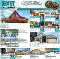EXITESTATEC (218) 454-EXIT (3948)O www.ExitLakesRealty.comREALST REALBest ofBest ofEBRANEO LAESBaxter Office: 7153 Forthun Road, Suite 120 | Baxter, MNCrosby Office: 17 West Main Street Crosby, MN2019Predheed DCEcecreccess2018DENEBLMESEXIT LAKES REALTY PREMIEROPEN HOUSE SATURDAY 10-12:00OPEN HOUSE SATURDAY 10-12:00WHITEFISH CHAIN36645 Timber Lane, CrosslakeMLS 5494169 $339,900MILLE LACS LAKE46876 Earle Brown Drive, GarrisonSuzanne Vanek MLS 5474368 $599,900218-838-8645Wes Hendrickson218-330-8786GARRISON 48+ ACRES26416 County Road 26, GarrisonMLS 5475128 $399.900Chad Schwendeman 218-851-8550OPEN HOUSE SATURDAY 10-12:00PARTRIDGE LAKEOPEN HOUSE SATURDAY 10-12:00GULL LAKEWABEDO LAKE1575 Wabedo FrontageRoad NE, LongvilleMLS 5473379 $499,000Chad Schwendeman 218-851-855026806 Round Lake Road, DeerwoodMLS 5504465 $3649008084 Pine Point Road, Lake ShoreRod Windjue MLSI 5503561 $449,900218-820-1729Jonathan Sellner218-838-4285BAXTER5 Bed, 3 Bath 2,684 Sq Ft4579 Deerwood Road, BaxterMLS 5503595 $339,900Chad Schwendeman 218-851-8550MALONES ISLAND ON MILLE LACS LAKE1695 White Cloud Drive N, IsleMLS 5503503 $539,900Chad Schwendeman 218-851-8550OPEN HOUSE SATURDAY 10:00-12:00| STAPLES503 Spruce Drive, StaplesHARLAN LAKEDEERWOOD12044 Spring Road SW, PillagerMLS 5490271 $279,900Chad Schwendeman 218-851-855023946 Cuyuna Greens Drive, DeerwoodMLS 5488117 $299,900Joel Hartman 218-821-0513HARTLEY LAKE18494 Hartley Lake Road, Brainerd Xiong Vang MLS 5506265 $149,900MLS 5472688 $309,900612-598-0197 Chad Schwendeman 218-851-8550SATE COMPANT EXIT ESTATE C (218) 454-EXIT (3948) O www.ExitLakesRealty.com REAL ST REAL Best of Best of EBRANEO LAES Baxter Office: 7153 Forthun Road, Suite 120 | Baxter, MN Crosby Office: 17 West Main Street Crosby, MN 2019 Predheed D CEcec reccess 2018 DENEBLMES EXIT LAKES REALTY PREMIER OPEN HOUSE SATURDAY 10-12:00 OPEN HOUSE SATURDAY 10-12:00 WHITEFISH CHAIN 36645 Timber Lane, Crosslake MLS 5494169 $339,900 MILLE LACS LAKE 46876 Earle Brown Drive, Garrison Suzanne Vanek MLS 5474368 $599,900 218-838-8645 Wes Hendrickson 218-330-8786 GARRISON 48+ ACRES 26416 County Road 26, Garrison MLS 5475128 $399.900 Chad Schwendeman 218-851-8550 OPEN HOUSE SATURDAY 10-12:00 PARTRIDGE LAKE OPEN HOUSE SATURDAY 10-12:00 GULL LAKE WABEDO LAKE 1575 Wabedo Frontage Road NE, Longville MLS 5473379 $499,000 Chad Schwendeman 218-851-8550 26806 Round Lake Road, Deerwood MLS 5504465 $364900 8084 Pine Point Road, Lake Shore Rod Windjue MLSI 5503561 $449,900 218-820-1729 Jonathan Sellner 218-838-4285 BAXTER 5 Bed, 3 Bath 2,684 Sq Ft 4579 Deerwood Road, Baxter MLS 5503595 $339,900 Chad Schwendeman 218-851-8550 MALONES ISLAND ON MILLE LACS LAKE 1695 White Cloud Drive N, Isle MLS 5503503 $539,900 Chad Schwendeman 218-851-8550 OPEN HOUSE SATURDAY 10:00-12:00 | STAPLES 503 Spruce Drive, Staples HARLAN LAKE DEERWOOD 12044 Spring Road SW, Pillager MLS 5490271 $279,900 Chad Schwendeman 218-851-8550 23946 Cuyuna Greens Drive, Deerwood MLS 5488117 $299,900 Joel Hartman 218-821-0513 HARTLEY LAKE 18494 Hartley Lake Road, Brainerd Xiong Vang MLS 5506265 $149,900 MLS 5472688 $309,900 612-598-0197 Chad Schwendeman 218-851-8550 SATE COMPANT