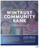 PROUD TO BE AWINTRUSTCOMMUNITYBANKCall to make an appointment or stop by for a cup of coffee.We're happy to help you with all your financial needs!As part of the Wintrust Community Banks family, we truly care aboutour area. It's part of our foundation to support the families here,SUBURBANthe local businesses, and the charitable organizations, too. Beyondproviding banking solutions, we also take pride in giving back to thepeople who work to make Elmhurst so great. Why? Because this isn'tjust home to us it's home to all of us.BANK & TRUSTAWINTRUST COMMUNITY BANK150 E. Butterfield Rd. | 400 W. Lake St. | Elmhurst630-592-2000| www.suburbanbank.comSuburban Bank & Trust is a branch of Hinsdale Bark & Trust Company NAMEMBERFDIC PROUD TO BE A WINTRUST COMMUNITY BANK Call to make an appointment or stop by for a cup of coffee. We're happy to help you with all your financial needs! As part of the Wintrust Community Banks family, we truly care about our area. It's part of our foundation to support the families here, SUBURBAN the local businesses, and the charitable organizations, too. Beyond providing banking solutions, we also take pride in giving back to the people who work to make Elmhurst so great. Why? Because this isn't just home to us it's home to all of us. BANK & TRUST AWINTRUST COMMUNITY BANK 150 E. Butterfield Rd. | 400 W. Lake St. | Elmhurst 630-592-2000| www.suburbanbank.com Suburban Bank & Trust is a branch of Hinsdale Bark & Trust Company NA MEMBER FDIC