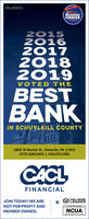CACL FINANCIALREADERSCHOICEWINNER20152016201720182019VOTED THEBESTBANKIN SCHUYLKILL COUNTY1800 W Market St., Pottsville, PA 17901(570) 628-2400 | CACLFCU.ORGCACLFINANCIALJOIN TODAY! WE AREEQUAL HOUSINGLENDERNOT-FOR-PROFIT ANDMEMBER OWNED.NCUA CACL FINANCIAL READERS CHOICE WINNER 2015 2016 2017 2018 2019 VOTED THE BEST BANK IN SCHUYLKILL COUNTY 1800 W Market St., Pottsville, PA 17901 (570) 628-2400 | CACLFCU.ORG CACL FINANCIAL JOIN TODAY! WE ARE EQUAL HOUSING LENDER NOT-FOR-PROFIT AND MEMBER OWNED. NCUA