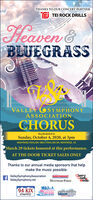 THANKS TO OUR CONCERT PARTNERF TEI ROCK DRILLSHeaven &BLUEGRASSVALLEY OSYMPHONYASSOCIATIONCHORUSRescheduled toSunday, October 4, 2020, at 3pmMONTROSE PAVILION 1800 E PAVILION DR. MONTROSE, COMarch 29 tickets honored at this performance.AT THE DOOR TICKET SALES ONLYThanks to our annual media sponsors that helpmake the music possible:ValleySymphonyAssociationValleySymphony.netCherryCreekMediaINDEPENDENTMONTROSE PRESS94 KIXCountry103.7he RIVER580AMKUBC THANKS TO OUR CONCERT PARTNER F TEI ROCK DRILLS Heaven & BLUEGRASS VALLEY OSYMPHONY ASSOCIATION CHORUS Rescheduled to Sunday, October 4, 2020, at 3pm MONTROSE PAVILION 1800 E PAVILION DR. MONTROSE, CO March 29 tickets honored at this performance. AT THE DOOR TICKET SALES ONLY Thanks to our annual media sponsors that help make the music possible: ValleySymphonyAssociation ValleySymphony.net Cherry Creek Media INDEPENDENT MONTROSE PRESS 94 KIX Country 103.7 he RIVER 580AMKUBC