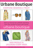 Urbane BoutiqueEVERYONE DESERVES A TREAT!Visit our brand new website and shopfrom the comfort of your own home:urbane.boutiqueNEW PRODUCTSUPLOADED EVERY WEEK01492 544992 | 28 Rhos Road, Rhôs-on-Sea Urbane Boutique EVERYONE DESERVES A TREAT! Visit our brand new website and shop from the comfort of your own home: urbane.boutique NEW PRODUCTS UPLOADED EVERY WEEK 01492 544992 | 28 Rhos Road, Rhôs-on-Sea