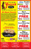 """SpringSavngsBuy 1 Yocco'sCheeseSteak""""The Hot Dog King""""Get oneoccO'SYocco's HotDogTHE SECRET'S inYocco's SAUCEFREEH:occo'sWith this coupon. Cannot becombined with other offers.Coupon expires 5/3/20Quality Fast Food Since 1922Buy 4Yocco's Hot DogsGet oneAll About Yocco'sYocco's was started in 1922 by my Grandfather,Theodore lacocca, along with his wife Assunta.Their special chili sauce recipe has becomefamous all over the Valley, with fans all over theworld. Yocco's reputation for quality ingredients,fast service and great prices is well known. Ifyou have never tasted our amazing Hot Dogs,our delicious CheeseSteaks or our uniquelyprepared Pierogies, then now is the time. Ipromise you will be a Yocco's fan forever!FREEWith this coupon. Cannot beMocco's combined with other offers.Coupon expires 5/3/20Buy 4Yocco's Cheese DogsGary lacoccaGet one3rd Generation OwnerFREE""""Friends bringFriends to Yocco's""""Hocco'sWith this coupon. Cannot becombined with other offers.Coupon expires 5/3/20Buy 2CheeseSteaksGet one CheeseSteakGreatCheeseSteaks Too!FREEocco'sWith this coupon. Cannot becombined with other offers.Who's ytyleWho BESTLa Valey 2019""""Voted Best Hot Dog""""CHETOPCoupon expires 5/3/20WORKBest Hot DogBest French FriesFastest Take OutKACESNo coupon specialBuy a Yocco's Doggie Pac Get a Free Hot Dog!Friendliest ServiceBest Lunch Under 562128 Hamilton St.Allentown610-821-8488Rt. 29 & Buckeye Rd.Emmaus1930 Catasauqua Rd.Allentown610-967-5555610-264-1884Rt. 100 South & l-78Fogelsville610-398-3939South Mall3300 Lehigh St., Allentown610-351-42227150 Hamilton Blvd.Trexlertown610-530-4480VISIT YOCCOS.COM FOR MENU, STORE HOURS & COUPONS Spring Savngs Buy 1 Yocco's CheeseSteak """"The Hot Dog King"""" Get one occO'S Yocco's Hot Dog THE SECRET'S in Yocco's SAUCE FREE H: occo's With this coupon. Cannot be combined with other offers. Coupon expires 5/3/20 Quality Fast Food Since 1922 Buy 4 Yocco's Hot Dogs Get one All About Yocco's Yocco's was started in 1922 by my Grandfather, Theodore lacocca, al"""