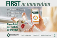 FIRST in innovationv Budget trackingCard controlperdingv Security$23785Downloadour mobileapp today!1 FIRST FEDERALCOMMUNITY BANK, SSBPARIS DOWNTOWN | PARIS LOOP | www.FFCBANK.COMSTMemberFDIC FIRST in innovation v Budget tracking Card control perding v Security $23785 Download our mobile app today! 1 FIRST FEDERAL COMMUNITY BANK, SSB PARIS DOWNTOWN | PARIS LOOP | www.FFCBANK.COM ST Member FDIC