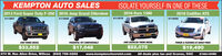 KEMPTON AUTO SALES2013 Ford Super Duty F-250 2016 Jeep Grand CHerokeeISOLATE YOURSELF IN ONE OF THESE2016 Ram 15002018 Cadillac ATS#11867#11845#11875#118344WD TURBO DIESELPOWERFUL YET COMFORTABLE4WD CREWCAB TURBO DIESELPOWER & FEATURES AT GREAT PRICE$33,552370 W. Rex Allen Drive, Willcox (520) 766-0252$17,048www.kemptonchevrolet.com$22,075$19,490SÉ HABLA ESPAÑOLAll deals plus tax and license, OAC KEMPTON AUTO SALES 2013 Ford Super Duty F-250 2016 Jeep Grand CHerokee ISOLATE YOURSELF IN ONE OF THESE 2016 Ram 1500 2018 Cadillac ATS #11867 #11845 #11875 #11834 4WD TURBO DIESEL POWERFUL YET COMFORTABLE 4WD CREWCAB TURBO DIESEL POWER & FEATURES AT GREAT PRICE $33,552 370 W. Rex Allen Drive, Willcox (520) 766-0252 $17,048 www.kemptonchevrolet.com $22,075 $19,490 SÉ HABLA ESPAÑOL All deals plus tax and license, OAC