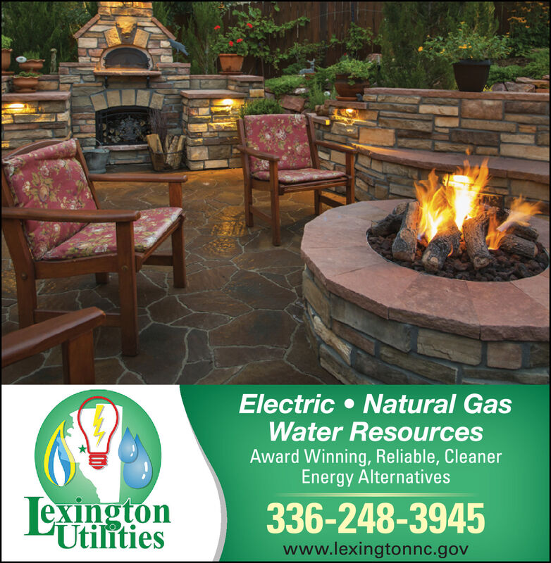 ElectricWater ResourcesAward Winning, Reliable, CleanerEnergy AlternativesNatural GasExington336-248-3945Utilitieswww.lexingtonnc.gov Electric Water Resources Award Winning, Reliable, Cleaner Energy Alternatives Natural Gas Exington 336-248-3945 Utilities www.lexingtonnc.gov