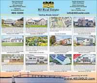 """East GreenwichNorth Kingstown6454 Post Road37 Main StreetNarragansett483 Boston Neck RoadWest Greenwich16 Nooseneck Hill RoadNewport8 Freebody StreetExeterRI Real Estate561 S. County Trail-SERVICES885-5400info@401sold.com""""Selling Rhode Island""""North ingstown-e SerdsDuerhe Gopous led 25 e mes Porch CalonaMOsDe Sacath he den y Not leen Oraning Oraeat0Oestet uneona Pemium Aoe anioued Setting An Entetaines Delight This Tese odted HaneOfes Cpen For Pan-Cer A-Hardoots uge Fay Room Sne Freace- Lodslatr ught - Can f hetry Sares Sunound Sound - MBA2 kNorth Kingstown - Neering completion. Onginal design nbned sth a namicterior me tis auality tuted """"Rednons Tunquist den tome out of theordinary. This 1.000+ Ranchis complete with an amasing foor plan. This 4 bedroom,entetaners deigt. Bigt and open Goumet koden fetures aarge centersand, anies te applianos and a day dning area thet leadsan ovennd ded.The chen vefeks the freplaced family room tha saring onling.wth arge wain doset and soke beauttu tle shoer temdieu anand bo shoeer heads The subeis supenta 131 Brigade Drive. S75,000South Kingstown - Undeveleped 13 Acre ot with 375 teet offrontage on Holy Street in dountown Wakefeld. The property iscurendy zoned commerdal (CN) and would be ideal for medical,dental, physical theragy, health related services or commercial officesO Holley Street. s690,000tat Greeldh-comet0 Senduary D. the originamoo untof the Bat GrenPreene he RRST ROOR MASTER EOROOK, the gumet kthen, tma deing raomosing nem frelace, lanut and pace cpte your aterten ant magnator Tataing aa ndudng lower level mes 10 The send level ofen 2 bedons astaredenda lot ay nom or afice. Thefen apefed atemtegues The oer levelie tsa wine deset Doar rber 2a t dt Der umbe a hotty om Dooruor the mectanial om. 0 Sanduary Orie, Dnt a 4,7grivate te tniyspcia tanly on and endes posbie beind drMaster suteDe Seondary Bedrons - Auesone e Room fated loer Lave- et e GroundPo -am-Cetra V Sorriles -1 Car Gang More. LIB Cteld Lane SI00Greg Dantas   """