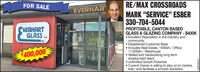 """FOR SALERE/MAX CROSSROADSEVERHARMARK """"SERVICE"""" ESBER330-704-5044PROFITABLE, CANTON BASEDCVERHARTGLASS co.GLASS & GLÁZING COMPANY - $400K Excellent Reputation in the industry andcommunity.Established Customer Base Includes Real Estate. 1400sf+- Office,11,600sf+- Warehouse Skilled and hardworking long termemployment team. Unlimited Growth Potential Current Owner is willing to stay on to mentor,train, and facilitate a smooth transition.INC.AT 8OPE DF$400,000LZEOS908 FOR SALE RE/MAX CROSSROADS EVERHAR MARK """"SERVICE"""" ESBER 330-704-5044 PROFITABLE, CANTON BASED CVERHART GLASS co. GLASS & GLÁZING COMPANY - $400K  Excellent Reputation in the industry and community. Established Customer Base  Includes Real Estate. 1400sf+- Office, 11,600sf+- Warehouse  Skilled and hardworking long term employment team.  Unlimited Growth Potential  Current Owner is willing to stay on to mentor, train, and facilitate a smooth transition. INC. AT 8 OPE DF $400,000 LZEOS908"""
