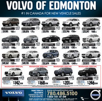 """VOLVO OF EDMONTON#1 IN CANADA FOR NEW VEHICLE SALES201 LAND ROVER LRA244,911 KM94,224 KM2013 FORD EXPLORERUMITED2013 MAZDA 3 SEDAN93,877 KM129,047 KM2016 HONDA CRVEXLAWD69,024 KM2013 KIA SORENTO AWD EXNORA RO$9,981 $66 BW$10,876 $71PM$13,976 $88 Bw$23,746 $156w$25,247 $168 sw2017 VOLVO VSO T6DRIVEE AWD PREMIER2017 VOLVO XC60 TS AWD20,726 KM67.575 KM46,501 KM2017 VOLVO SPO TS AWDINSCRITPION73,516 KM15,070 KM2016 VOLVO XC90INSCRIPTION AWD2019 VOLVO XC60 T5S AWDMOMENTUM$29,871 $198w$36,604 $242 M$41,803 $276 BW$42,858 $282w$46,271 $306 BW2018 VOLVO XC6040,033 KM2019 VOLVO XC60 T6 AWDMOMENTUM15,07 2019 VOLVO XC60 T6 AWDMOMENTUM18,472 KM2419 KM2019 VOLVO XC60 T6 AWDMOMENTUM7382 KM2019 VOLVO V90 T6INSCRIPTION AWD$49,367 $326BWMANAGER SPECIALCROSS COUNTRY AWD$49,701 $328 wMANAGER SPECIAL$53,196 $349 wMANAGER SPECIAL$52,674 $346w$57,872 $381ewMANAGER SPECIALSTEAPOSRSLENS142,662 KM87,802 KMMOKSOON GREY2016 TOYOTA 4RUNNER,82 73,254 KM2016 AUDI Q3PROGRESSIVE AWDWAS: S26,4562018 AUDI Q3 2.0TPROGRESSIV TIPTRONICWAS: S28,900NOW: S25,5792015 LEXUS GX 460PREMIUMWHTESR5 V6BLACK$142 BW$168 BWWAS: S34,797NOW: S30,510$246 BWWAS: S46,988$201BWNOW: S21,412NOW: S37,500FOR ONLY:FOR ONLY:FOR ONLYFOR ONLY:""""L ONR VOS ERNE WNA TEARAOON CeD PREREO WmATY - FRANONS AS LIWAS S R MONTSS VENE NAT NOT EEAT S SHEW. PEASE SE BALER OR BETLS. ALL VENGES ALARE AT TINE OF PENTNE. PRCNS AND PINENTS ARE PR S T.INEELI PAIMENTS CALILATD DER A MONTE TEEN ING S CASI DO eLS IDACI VENE Ptes sta reR STATNE PORPESEFINANCE FROM 0.9%www.volvoedmonton.comFOR 60 MONTHS780.486.5100VOLVOGUARANTEED FOR 6 YEARSOR 160,000 KILOMETRES.VOLVO1205-101 ST SWEXAMPLE: 2019 VOLVO XC60 T6 AWD MOMENTUM - STK#:C321913 - $49,701 + GST. USING $14,996 CASHDOWN, 60 MONTHS e 5.49% (OAC) = $328/BIWEEKLY. TOTAL INTERST OVER THE TERM IS $5409.00.AMVIC VOLVO OF EDMONTON #1 IN CANADA FOR NEW VEHICLE SALES 201 LAND ROVER LRA 244,911 KM 94,224 KM 2013 FORD EXPLORER UMITED 2013 MAZDA 3 SEDAN 93,877 KM 129,047 KM 2016 HONDA CRV EXLAWD 69,024 KM 2013 """
