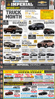 """2019 CONSUMERansace AWARDk IMPERIALCHEVROLETPennerAT THEIMPERIAL CITY18 UXBRIDGE RD, RTE. 16, MENDON, MAWe sell morese yousave moreImperialchevrolet.net B00-s26-AUTOFIND NEW ROADSTRUCKMONTHWHAT OUR CUSTOMERS ARE SAYINOSILVERADO 1500 CREW CABFOR WELL-QUALIFIED BUYERS0% 72 wONTHS$500 stwANCE""""PAUL WAS GREAT!!!""""Mada great experieneranh Peul, hemadevryihing elrar, d a and wasereilahle for foll sp estener atng the car. Definily as fer PltenperiatPOLC I MAR 2s, 2020APRFORCASHWHEN YOU FINANCE WITH GM FINANCIALBRAND SPANKIN' NEW 2020 CHEVYSILVERADO1500 LTBRAND SPANKIN' NEW 2020 CHEVROLET42SILVERADOSEQUINOXREADY FORDELIVERYrorivernmetbpleyBluetooth Back Up CamereAays- Premium ude tyatenBack taAlay WhenlaMylinT turte A-Wheel OriveLEASEFOR ONLY 219/MO.Double Ceb-4HI $6,500BUY FOR AS LOW ASLEASEFOR ONLY$6,200BUY FOR AS LOW ASMSAP 14LD0Factery Rebnes 14.00Inperial Discunt 12zou$41,577 23950EQUINOX READYFOR DELIVERY$28,477Factory ebates 400Imperial Discount SUSA MONTHBRAND SPANKIN TRAVERSE ALL-NEW 2019CHEVROLETNEW 2020 CHEVY12290 BLAZERS4,900 UY FOR AS LOW ASLEASE FOR ONLYSac Cameywhe$30,377TVERFerteryI S4,200 UY FOR AS LOW AS$37,377BRAND SPANKIN NEW BRAND SPANKIN NEW20 CHEVYBRAND SPANKIN NEWBRAND SPANKIN NEWfactry MCHEVYCHEVYCHEVYMALIBU LT TRAX LS SUV TAHOE SUV CAMARO 1LTBRAND SPANKINNEW 2020 CHEVY COLORADOLEASE FOR ONLY$249mo15atemperialBUT FOR AS LOw ASUY FOR AS LOW ASDUT FOR AS LOW ASLUT FOR AS LOW ASS3,800 BUY FOR AS LOW AS$31,377$24,377 $18,977 $64,977 $28,377FartertIMPERIAL CHEVROLETFIND NEW ROADSCHEVROLET18 BRIDGE RO, ATE 18. MENOON, MA SALES M-THS-9, Fri & Sat 9-6, Sun 12-6 SERVICE MF130 -6, Sat 730-5 mperialChevroletnet 800-S20-AUTOTHOUSAND OF NEW &USED VEHICLES-IN ONE LOCATIONIIMPERIAL USED CARSUPER STOREALL IMPERIAL CERTIFIEDS DAY VEHICLE EXCHANGEFREE CARFAX REPORTTRIPLE TRIPLE TIREFREE!BATTERY TEST DEAL!FREE!MULTI-POINT CAR WASH, VACUUMINSPECTION WINDOW CLEANINGFREE!DEALAND10% OFFREPLACEMENT BATTERYLRANMENTCH$39 95TH EVERY SECEOUR SERVICE DEPARTMENTS AREOPEN FOR BUSIN"""