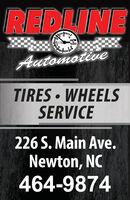 REDLINEROM1000AutomotiveTIRES  WHEELSSERVICE226 S. Main Ave.Newton, NC464-9874 REDLINE ROM 1000 Automotive TIRES  WHEELS SERVICE 226 S. Main Ave. Newton, NC 464-9874