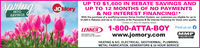 """spningUP TO $1,600 IN REBATE SAVINGS ANDUP TO 12 MONTHS OF NO PAYMENTSJOMoryINTOSAVINGS& NO INTEREST FINANCING!*With the purchase of a qualifying Lennox Home Comfort System, our customers are eligible for up to$1,600 in Rebates and Up to 12 months of No Payments & No Interest Financing for those who qualify.*Contact J.O. Mory for eligibility details.1-800-ATTA-BOY Find us onLENNOXInnovotion nver felt so good""""www.jomory.comHEATING & A/C, ELECTRICAL, GEOTHERMAL, PLUMBING,METAL FABRICATION, GENERATORS & 24 HOUR SERVICE spning UP TO $1,600 IN REBATE SAVINGS AND UP TO 12 MONTHS OF NO PAYMENTS JOMory INTO SAVINGS & NO INTEREST FINANCING!* With the purchase of a qualifying Lennox Home Comfort System, our customers are eligible for up to $1,600 in Rebates and Up to 12 months of No Payments & No Interest Financing for those who qualify. *Contact J.O. Mory for eligibility details. 1-800-ATTA-BOY Find us on LENNOX Innovotion nver felt so good"""" www.jomory.com HEATING & A/C, ELECTRICAL, GEOTHERMAL, PLUMBING, METAL FABRICATION, GENERATORS & 24 HOUR SERVICE"""