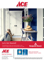 """ACEThe helpful place.Let's Get Started!The best time to start your paint project is now.Come in today to find your new favorite room color.Benjamin MooreACEShop your favoriteBenjamin Moore® colors.REBALThe helpful place.Debo Ace Hardware1713 4th St  Peru, IL 61354(815) 223-0461acehardware.com02019 Benjamin Moore & Co. ben, Benjamin Moore, Gennex, Regal, and the triangle """"M"""" symbol are registeredtrademarks licensed to Benjamin Moore & Co. All other marks are the property of their respective owner. 10/19 ACE The helpful place. Let's Get Started! The best time to start your paint project is now. Come in today to find your new favorite room color. Benjamin Moore ACE Shop your favorite Benjamin Moore® colors. REBAL The helpful place. Debo Ace Hardware 1713 4th St  Peru, IL 61354 (815) 223-0461 acehardware.com 02019 Benjamin Moore & Co. ben, Benjamin Moore, Gennex, Regal, and the triangle """"M"""" symbol are registered trademarks licensed to Benjamin Moore & Co. All other marks are the property of their respective owner. 10/19"""