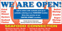 WE ARE OPEN!FriedFishBoiledCall in orders with curbside pick-up orShrimpcurbside ordering at our PARKVIEW locationDinnerGumboDrive thru service at ourOystersCENTER STREET Location.SeafoodPlatterSuperShrimpDinnerFamily Owned & OperatedServing Acadiana For Over 50 Years!SEAFOOD CONNECTION999 Parkview, New Iberia · 365-24541120 Center St., New Iberia · 364-1254Open 7 Days a Week · 4pm to 9pmOpen 7 Days a Week · 10am to 9pm WE ARE OPEN! Fried Fish Boiled Call in orders with curbside pick-up or Shrimp curbside ordering at our PARKVIEW location Dinner Gumbo Drive thru service at our Oysters CENTER STREET Location. Seafood Platter Super Shrimp Dinner Family Owned & Operated Serving Acadiana For Over 50 Years! SEAFOOD CONNECTION 999 Parkview, New Iberia · 365-2454 1120 Center St., New Iberia · 364-1254 Open 7 Days a Week · 4pm to 9pm Open 7 Days a Week · 10am to 9pm