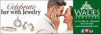 Celgbrateher with JewelryWADESJE WELERS101 East Main St. I Gibsonville336.449.4949www.wadesjewelers.comIN377 Celgbrate her with Jewelry WADES JE WELERS 101 East Main St. I Gibsonville 336.449.4949 www.wadesjewelers.com IN377
