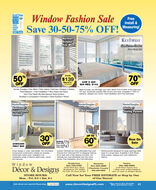 2020Window Fashion SaleFreeInstall &VENICEREADERS(HOICEFIRST PLACESave 30-50-75% OFF! WeasuringNormanEclipseKey WestKeY WESTSun Sereen ShadesFree Ensy Lin50%OFF70OFF24x36$139Reg. S278Composite24W X 36H$69 REG. $143Hunter Douglas  Key West  Palm Island  Norman  Eclipse  GraberFree Measure + Free Installation  Buy Direct and Save.Don't Pay Retail We Manufacture Solid SurfaceShutters  Composite  Polyresin  Solid Surface  WoodBeat the heat, but still keep your view. Block 75% to 99% of the heat andUV rays. Sunscreen shades offer privacy and style. Available in 100's ofpatterns, designs and colors. Free Instalilation and Free Estimates.HunterDouglasApplauseHoneycombShadesHunterDouglasVerticalsFree ValanceHunterDouglas eSkylineSliding Panels30UP TO60Now OnSaleVerticale $79OFF24WX36HONLY $99from onlyFaux weodsfrom only 47OFFSmart design in crisp, neat pleats. Our innovativeSliding panels designed for large openings slideback to a small stack. Available in Soft Sheer,Custom Verticalls are more affordable than ever.honeycomb construction creates air pocketswhere light meets color. Available in anChoose from Textured PVC to Designer Fabrics.All on sale with a free Valance included. OurSolar screen, Opaque and room darkeningfabrics.impressive range of fabrics, pleat sizes, colorsand textures.verticals are more affordable than box storeprices. Free Instalation and Free Estimatos.WindowDécor & DesignsBradenton941-755-37973125 53rd Ave. EastBradenton, FL. 34203Sarasota941-225-2660Charlotte CountyVenice941-485-00031740 East Venice Ave.1 Mile west of Roundaboutunit 15 next to Allegro Bistro855-485-0003On S.R. 70, Eant of 301STORE HOURS:Call Now for Your FREE ESTIMATE or Stop by Oneof Our Stores!Mon. - Fri. 9-5  Sat. 9-1Ask about our special financing.synchronywww.DecorDesignsFL.com*See store for details.Min. purehase req-# 2 2020 Window Fashion Sale Free Install & VENICE READERS (HOICE FIRST PLACE Save 30-50-75% OFF! Weasuring Norman Eclipse Key West KeY WEST Sun Sereen Shades Free Ensy Lin 50% OFF 70 OFF 24x36 $139 Reg. S278 Composite 24W X 36H $69 REG. $143 Hunter Douglas  Key West  Palm Island  Norman  Eclipse  Graber Free Measure + Free Installation  Buy Direct and Save. Don't Pay Retail We Manufacture Solid Surface Shutters  Composite  Polyresin  Solid Surface  Wood Beat the heat, but still keep your view. Block 75% to 99% of the heat and UV rays. Sunscreen shades offer privacy and style. Available in 100's of patterns, designs and colors. Free Instalilation and Free Estimates. HunterDouglas Applause Honeycomb Shades HunterDouglas Verticals Free Valance HunterDouglas e Skyline Sliding Panels 30 UP TO 60 Now On Sale Verticale $79 OFF 24WX36H ONLY $99 from only Faux weods from only 47 OFF Smart design in crisp, neat pleats. Our innovative Sliding panels designed for large openings slide back to a small stack. Available in Soft Sheer, Custom Verticalls are more affordable than ever. honeycomb construction creates air pockets where light meets color. Available in an Choose from Textured PVC to Designer Fabrics. All on sale with a free Valance included. Our Solar screen, Opaque and room darkening fabrics. impressive range of fabrics, pleat sizes, colors and textures. verticals are more affordable than box store prices. Free Instalation and Free Estimatos. Window Décor & Designs Bradenton 941-755-3797 3125 53rd Ave. East Bradenton, FL. 34203 Sarasota 941-225-2660 Charlotte County Venice 941-485-0003 1740 East Venice Ave. 1 Mile west of Roundabout unit 15 next to Allegro Bistro 855-485-0003 On S.R. 70, Eant of 301 STORE HOURS: Call Now for Your FREE ESTIMATE or Stop by One of Our Stores! Mon. - Fri. 9-5  Sat. 9-1 Ask about our special financing. synchrony www.DecorDesignsFL.com *See store for details. Min. purehase req- # 2