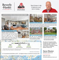 """Beverly-Hanks""""Real Estate Is MyProfession andNot A Hobby."""" REALTORSSteve R. DozierREAL ESTATE IS MY PROFESSIONLUXURIOUS CONDO OVERLOOKING MAIN STREET129 STONEBRIDGE DRIVE S560,0003BR, 3BA, 1HB 4,830 SF, MLS#3497334Sought after open floor plan is ideal for entertaining! A soaring mission style fireplacewill be a conversation sparker amongst guests. Enjoy the choice to work from home intwo office spaces. Plenty of room for guests on the terrace level. Ideal location nearbyFlat Rock Playhouse & more! Visit: beverly-hanks.com/3497334NEW LISTING!HENDERSONVILLE S59,0004 BR, 2 BA, 1 HB, 1,963 SF, MLS# 3588922Completely restored, uniterupted flow that isperfect for entertaining, plus a mother-in-law suiteattract you to stay awhile. Two chefs kitchensoffer all the gadgets you need. Fascinatingarchitectural touches include; 10 3"""" ceilings,transom windows, original wood flooring, brightskylights, storage galore, and light enveloped suntunnels in each room allow natural light to beam in.Visit: beverly-hanks.com/3588922HENDERSONVILLE S275,000HENDERSONVILLE $650,0002BR, 2BA, 1,711 SF, MLS#3605166Beautifully updated & complete with greatoutdoor living spaces in Haywood Knolls.Visit: beverly-hanks.com/36051663BR, 2BA, 1HB, 2,870 SF, MLSO3543267Open layout & beautiful craftsman finishes.All that you need on the main level, plus awalk-out terrace level fit for guests.Visit: beverly-hanks.com/3543267Proudly serving Buncombe,Henderson, and Transylvaniacounty markets. If you'reinterested in buying or sellingyour home or property,please contact me.My DrealsatisfiedRatings5.05.05.0SatisfactionRecommendationPerformance""""I haknown Steve Dozier for over twenty years. Steve has always been professional, honest with a keen eyefor detail. Would never hesitate to recommend Steve.""""Steve Dozier-Nella Best Australia (Buyer)BROKER ASSOCIATE#1 in the Hendersonville Office for 2019 