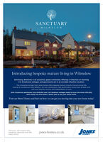 SANCTUARYWILMSLOWIntroducing bespoke mature living in WilmslowSanctuary, Wilmslow is an exclusive, gated community offering a collection of stunning2 83 bedroom cottages and apartments set in an enviable Cheshire location.This innovative concept from Jones Homes offers bespoke mature living for the active over 55slooking for something a little different. Our low maintenance, high specification homes have all been builtwith your lifestyle, security and independence in mind.With 2 bedroom apartments from £315,000 and 2 & 3 bedroom cottages ready to move into from £370,000,there really has never been a better time to buy your dream home.Visit our Show Homes and find out how we can get you moving into your new home today!Sanctuary, Off Coppice Way,Handforth, Wilmslow SK9 3PBJONESjones-homes.co.uk01625 253107HOMES SANCTUARY WILMSLOW Introducing bespoke mature living in Wilmslow Sanctuary, Wilmslow is an exclusive, gated community offering a collection of stunning 2 83 bedroom cottages and apartments set in an enviable Cheshire location. This innovative concept from Jones Homes offers bespoke mature living for the active over 55s looking for something a little different. Our low maintenance, high specification homes have all been built with your lifestyle, security and independence in mind. With 2 bedroom apartments from £315,000 and 2 & 3 bedroom cottages ready to move into from £370,000, there really has never been a better time to buy your dream home. Visit our Show Homes and find out how we can get you moving into your new home today! Sanctuary, Off Coppice Way, Handforth, Wilmslow SK9 3PB JONES jones-homes.co.uk 01625 253107 HOMES