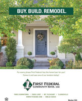 BUY. BUILD. REMODEL.For every phase First Federal has the home loan for you!Come in and see one of our lenders today!FIRST FEDERALCOMMUNITY BANK, SSBSTPARIS DOWNTOWN I PARIS LOOPI MT. PLEASANT I CLARKSVILLEwww.FFCBANK.COM I NMLS# 402549Member FDIC BUY. BUILD. REMODEL. For every phase First Federal has the home loan for you! Come in and see one of our lenders today! FIRST FEDERAL COMMUNITY BANK, SSB ST PARIS DOWNTOWN I PARIS LOOPI MT. PLEASANT I CLARKSVILLE www.FFCBANK.COM I NMLS# 402549 Member FDIC