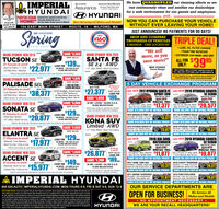 "IMPERIALHYUNDAIWe have QUADRUPLED our cleaning efforts so weAssuranceAmerica's Best Warranty10-Year/ 100,000-MilePerten timnd rantycan continuously clean and sanitize our dealershipsfor a safe environment for our guests and employees.and.O HYUNDAIKevin Meehan ""WE'VE COME Imperial hos opened a brand newHOME!"" Hyundal dealenhip ot our54 Eont Moin Street home in Milord. Now Servicing all Makes and Models! NOW YOU CAN PURCHASE YOUR VEHICLEWITHOUT EVER LEAVING YOUR HOME!OnerIf you candream it, youcan drive it154 EAST MAIN STREET 