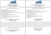 RFTARFTARooring Ferk Tronsportatien AutherityINFORME COMUNITARIORoering Fork Transportetion AutherityCOMMUNITY UPDATEREUNIÓN DE LA MESA DIRECTIVAEl jueves, 9 de abril del 2020BOARD OF DIRECTORS MEETING AGENDAThursday, April 9, 2020New Location: WebEx or Telephone 1-650-479-3208 Call-in toll number (US/Canada)Access code: 801 823 391 8:30 a.m. to 11:00 a.m.Nueva Ubicación: WebEx o teléfono 1-650-479-3208, llamar-a toll número (US/Canada)8:30 a.m. a l1:00 a.m.(Agenda sujeta a cambios antes de la reunión)(Agenda subject to change prior to meeting)1. Pasar Lista @ 8:30 a.m.3. Aprobación de Actas: 13 de febrero del 2020 @ 8:31 am.4. Comentario Público: Respecto a temas no incluidos en la Agenda(Limite de 3 minutos por persona) @ 8:32 a.m.5. Artículos Añadidos a la Agenda/Comentarios de los Miembros de la Mesa Directiva @ 8:40 a.m.6. Sesión Ejecutiva @ 8:50 a.m.7. Presentaciones/Articulos de acción @ 9:30 a.m.A. Actualización de planificación de preparación de Coronavavirus8. Audiencia Publica @ 10:30 a.m.1. Roll Call @ 8:30 a.m.3. Approval of Minutes: February 13, 2020 @ 8:31 a.m.4. Public Comment: Regarding items not on the agenda (3 minutes/person) @ 8:32 am.5. Items Added to Agenda/Board Member Comments @ 8:40 a.m.6. Executive Session @ 8:50 a.m.7. Presentations/Aetion Items @ 9:30 am.A. Coronavirus Preparedness Planning Update8. Public Hearing @ 10:30 a.m.A. Resolution 2020-10: 2020 Supplemental Budget Appropriation9. Information/Updates @ 10:45 a.m.A. CEO ReportA. Resolución 2020-10: Apropiación presupuestan suplementaria de 20209. Información y Actualizaciones @ 10:45 am.A. Reporte del CEOSiguiente Reunión/Retiro: 14 de mayo del 2020Ayuntamiento de Carbondale;Next Board Meeting May 14, 2020Carbondale Town Hall:8:30 a.m. to 11:30 a.m.8:30 a.m. a l1:30 a.m.RFTAes un Empleador de Oportunidades Iguales de Empleo/Acción Afirmativa (EBO/AA). Es la politica deRFTA que ninguna persona sobre la base de raan, color, religión, origen nacional, sezo (inclugendo embaraza,parto 