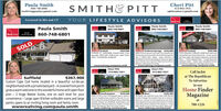 Paula SmithCheri PittSMITH& PITT860-748-6801413-883-1921reallivingpaula@ gmail.comcpittrealtor@ gmail.comLicensed in MA and CTYOUR LIFESTYLE ADVISORSReallivingPaula SmithPaula SmithPaula SmithPaula Smith860-748-680160-748-6801860-748-6801ReallivingProfessienal860-748-6801PENDINGSOLDEnfieldS355,000Stafford Springs s230,000abela Court can meet your future reed ThisabetfuloverSactiveadutommuntyethighonthehilateing magifoentviees of Sfford below. magine quality cntration atattordable prices. We wilostom dnignyour hometoyourpecifieneeds. Afew loti remain to be built in Phase iwtichcan offer 23bedrooms, 2 baths winan foor laundry.wwwrealiving.com/paula.smith$259.900This isa beautiful TURN KEY HOME that's been wellmaintained and cared forfeatures.3 zone naturalgs heat wigas log fireplace gleaming hardwoodfloors - 2 fuly updated baths-4 large bedroomswample closets - shaker style remodeled kitchenwimatching appliances and large dining areawwwrealiving.com/paula.smithEnfieldEntield, CT $355,000, 3 bed/3 bath, S cargarage, 2435 sqft, 0.68 acres, open floorplan, completely updated.wwwrealiving.com/paula.smithCheri Pitt413-883-1921Cheri Pitt413-883-1921Call Jackieat The RepublicanTo Advertise$367,900Custom Cape Cod home located in a beautiful cul-de-sacneighborhood with a private backyard - A covered front porchgives a warm welcome to this wonderful home with open floorplan - 2 Huge Master Suites, one on each level for yourconvenience - Large open Kitchen w/double ovens and largepantry opens to an inviting living room and family room.wwwrealiving.com/paula.smithSuffieldin ourHome FinderSouthamptonExpect to fall in lovel This beautiful cape is almost 4acres of wooded privacy located at the end of a outdesa. Enjoy the tranquil feeling of nature while beingcentrally located near Westfieid, Northampton, andEasthampton. Offering 3 bedrooms, 2 baths, a ta floormaster and fabulous views from every window,www.realliving.com/cheryl.pittMagazine$439.900Ware$399,900This Beaver Lake waterf