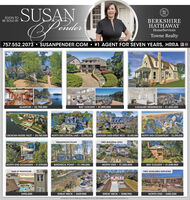 SUSANenderwESOON TOBE SOLD BYBERKSHIREAWAYHomeServicesTowne Realty757.552.2073 SUSANPENDER.COM  #1 AGENT FOR SEVEN YEARS, HRRA BeALANTON  $2.795.000BAY COLONY  $1,895,000CAVALIER RESIDENCES  $1,650,000CROATAN-RUDEE INLET  $5,750,000NORTH END-CRYSTAL LAKE  $3,995,000 LINKHORN OAKS-GREAT NECK  $3,450,000NORTH END-OCEANFRONT · $2,295,000WATERFRONT POINTTWO BUILDING SITESNORTH END-OCEANSIDE  $1,379,000BIRDNECK POINT  $1,195,000NORTH END · $1,050,000BAY COLONY  $1.049.000TWO AVAILABLE DUPLEXES3600 SF PENTHOUSE$995,000GREAT NECK $629,900GREAT NECK  $588,900NORTH END  $685,0000 20 STREE SR , ADL VA ZSIST-420AMEMO THE ANDE SYS LS ut SUSAN ender  wE SOON TO BE SOLD BY BERKSHIRE AWAY HomeServices Towne Realty 757.552.2073 SUSANPENDER.COM  #1 AGENT FOR SEVEN YEARS, HRRA Be ALANTON  $2.795.000 BAY COLONY  $1,895,000 CAVALIER RESIDENCES  $1,650,000 CROATAN-RUDEE INLET  $5,750,000 NORTH END-CRYSTAL LAKE  $3,995,000 LINKHORN OAKS-GREAT NECK  $3,450,000 NORTH END-OCEANFRONT · $2,295,000 WATERFRONT POINT TWO BUILDING SITES NORTH END-OCEANSIDE  $1,379,000 BIRDNECK POINT  $1,195,000 NORTH END · $1,050,000 BAY COLONY  $1.049.000 TWO AVAILABLE DUPLEXES 3600 SF PENTHOUSE $995,000 GREAT NECK $629,900 GREAT NECK  $588,900 NORTH END  $685,000 0 20 STREE SR , ADL VA ZSIST-420AMEMO THE ANDE SYS LS ut