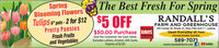 SpringBlooming FlowersThe Best Fresh For SpringTulips pit-2 for $12 $5 OFF$5 OFFRANDALL'SFARM AND GREENHOUSEReader$50.00 Purchase RAVES631 Center St. Route 21, Mass Pike Exit 7 - LudlowPretty PansiesFresh Fruitsand VegetablesOpen Everyday at 7amClosed Easter SundayOne Per Customer. No Cash Value.Excludes Lottery, Alcohol, Gift Cards.Expires 4/12/202020www.randallsfarm.net589-7071DYoulube Spring Blooming Flowers The Best Fresh For Spring Tulips pit-2 for $12 $5 OFF $5 OFF RANDALL'S FARM AND GREENHOUSE Reader $50.00 Purchase RAVES 631 Center St. Route 21, Mass Pike Exit 7 - Ludlow Pretty Pansies Fresh Fruits and Vegetables Open Everyday at 7am Closed Easter Sunday One Per Customer. No Cash Value. Excludes Lottery, Alcohol, Gift Cards. Expires 4/12/20 2020 www.randallsfarm.net 589-7071 DYoulube