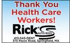 Thank YouHealth CareWorkers!RickS413-543-DENT375 Pasco Road, Springfield, MA Thank You Health Care Workers! RickS 413-543-DENT 375 Pasco Road, Springfield, MA