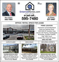 MLS()EnternetHomes.compiek. click, bu y.or just call...Jo Chism237-0487Ron Chism595-7480542-7093OFFICE / RETAIL SPACE FOR LEASEPathway MarForever YangPRIME LOCATIONIntersection at East BlackstockUniformRoad and Reidville Road.KESIWELL1200-2400 SF Available, EasyAccess with Parking, HandicappedAccessible, Excellent VisibilityHigh Traffic CountContact Ron Chism for Details(864) 542-7093CLIFFS AT GLASSY!MOVE-IN READY!NEW LISTING in DISTRICT 5!STUNNING MOUNTAIN VIEWS,5000+ SF, 4 Bedroom, 4.5 Bath,Open Floor Plan, Multiple Gas LogFireplaces, Full Finished Basement,Office, Dual Level Deck, 3 CarAttached Garage, $499,900ALL BRICK IN DISTRICT 6, 1200 SF,3 Bedroom, 1.5 Bath, New KitchenCabinets, Countertops, & Sink,New Flooring Throughout, Fresh Paint,Great for First Time Homebuyers orRental, $81,900BROOKHAVEN SUBD., 2560 SF,4 Bedroom, 3 Bath, Open Floor Plan,Abundance of Natural Light, CathedralCeilings, Breakfast Area, Formal DiningRoom, 2nd Level Master Suite,1.95 Acres, $259,900SC2186441 MLS () EnternetHomes.com piek. click, bu y. or just call... Jo Chism 237-0487 Ron Chism 595-7480 542-7093 OFFICE / RETAIL SPACE FOR LEASE Pathway Mar Forever Yang PRIME LOCATION Intersection at East Blackstock Uniform Road and Reidville Road. KESIWELL 1200-2400 SF Available, Easy Access with Parking, Handicapped Accessible, Excellent Visibility High Traffic Count Contact Ron Chism for Details (864) 542-7093 CLIFFS AT GLASSY! MOVE-IN READY! NEW LISTING in DISTRICT 5! STUNNING MOUNTAIN VIEWS, 5000+ SF, 4 Bedroom, 4.5 Bath, Open Floor Plan, Multiple Gas Log Fireplaces, Full Finished Basement, Office, Dual Level Deck, 3 Car Attached Garage, $499,900 ALL BRICK IN DISTRICT 6, 1200 SF, 3 Bedroom, 1.5 Bath, New Kitchen Cabinets, Countertops, & Sink, New Flooring Throughout, Fresh Paint, Great for First Time Homebuyers or Rental, $81,900 BROOKHAVEN SUBD., 2560 SF, 4 Bedroom, 3 Bath, Open Floor Plan, Abundance of Natural Light, Cathedral Ceilings, Breakfast Area, Formal Dining Room, 2nd Level Master Suite, 1.95 Acres, $259,900 SC2186441