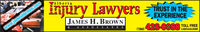 Injüry LawyersTAlbertaTRUST IN THEEXPERIENCEJAMES H. BROWNwww.jameshbrown.com(see website)(780) 428-0088 TOLL FREE1-800-616-0088 Injüry Lawyers TAlberta TRUST IN THE EXPERIENCE JAMES H. BROWN www.jameshbrown.com (see website) (780) 428-0088 TOLL FREE 1-800-616-0088