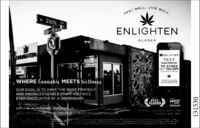 """WELL.LIVEWELL,FEELw 26thENLIGHTENALASKA* ENLIGHTENENUSTENTEXTANCPRESS""""TO 411669GET 10N OFFYOURNEXT ORODEWHERE Cannabis MEETS WellnessOUR GOAL IS TO HAVE THE MOST FRIENDLYAND KNOWLEDGEABLE STAFF YOU WILLEVER ENCOUNTER AT A DISPENSARY.BESTALASKAPRESSWINNERjelles insteghem denioutuPc SPINARO Rie 7-290.sse www ENLIGHTENAKCOMSUNDAY AMnorero ocatann conmpr on of mann for unaAsna ouid ret b ued by womeno rigrart or brint edna131530 WELL. LIVE WELL, FEEL w 26th ENLIGHTEN ALASKA * ENLIGHTEN ENUSTEN TEXT ANCPRESS"""" TO 411669 GET 10N OFF YOURNEXT ORODE WHERE Cannabis MEETS Wellness OUR GOAL IS TO HAVE THE MOST FRIENDLY AND KNOWLEDGEABLE STAFF YOU WILL EVER ENCOUNTER AT A DISPENSARY. BEST ALASKA PRESS WINNER jelles insteghem denioutu Pc SPINARO Rie 7-290.sse www ENLIGHTENAKCOM SUNDAY AM norero ocatann conmpr on of mann for una Asna ouid ret b ued by womeno rigrart or brint edna 131530"""