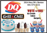 2014 Hwy 5N  BentonDQ501-575-6221VOTÉ for US!Ice CreamCakesGrill &Chill,BurgersHappyFathersDayCOTTON CANDTWIXUMMER BERRICHEESECAKEURASSIC CHOMS'MORESN peanut bBUZZARBUZZARBUZZAR 2014 Hwy 5N  Benton DQ 501-575-6221 VOTÉ for US! Ice Cream Cakes Grill &Chill, Burgers Happy Fathers Day COTTON CAND TWIX UMMER BERRI CHEESECAKE URASSIC CHOM S'MORES N peanut b BUZZAR BUZZAR BUZZAR