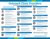 Outreach Clinic ProvidersSelf-referrals are welcome! Questions? Call 507-831-0670.Windom Area Health Outreach andproviders encourage you to continue tokeep and schedule your appointments.NeurologyPsychlatry - Child/Adult Mental Health SpecialistKen Bentson, PA-cAlina Health New UlmDr. Clay Pavlis, MDMidwest Wellness Institute - MarshallCardiology-Heart Specialistznd and ath TuesdaysCall 507-831-0670 to make an appointmentwith Dr. Pavlis today!Call 507-217-5011 to make an appointment withKen Bentson today!Dr. Christopher Paa, MDNorth Central Heart · Sloux FallsCall 507-831-0670 to make an appointmentwith Dr. Paa today!Darla Miles, CNP, PMHNP-NEWMidwest Wellness Institute - MarshallOphthalmology- Eye SpecialistMay 4. 18Call 507-831-0670 to make an appointmentwith Darla Miles today!Dr. David West, MDOphthalmology LTD Sioux FallsOR: May 12. 26. June g. 23Clinic: May 13. 27. June 10. 24Call 800-888-1433 to make an appointmentwith Dr. West today!Julie Langerock, CNPNorth Central Heart · Sioux FallsJune 22Pulmonology - Respiratory/Lung SpecialistCall 507-831-0670 to make an appointmentwith Julie Langerock today!Dr. Scott Pham, MDSanford Cardiovascular Institute - Sioux FallsMay 7. 21Call 877-220-2929 to make an appointmentwith Dr. Pham today!Support Providers: Kelli Kolander-CNP, Kristi Metiger-CNPDr. John Yu, MDSanford Pulmonary Medicine Clinic · Sioux FallsMay 14. July 9, September 17Call 605-328-8900 to make an appointmentwith Dr. Yu today!Orthopaedics - Bone, Muscle and Joint SpecialistDr. Jesse Botker, MDThe Orthopaedic & Fracture Clinic MankatoMay 5. 19Call 800-950-4602 to make an appointmentwith Dr. Botker today!Support Provider: Dick Lowry-OPA-CUrology-Urine, Kidney and Bladder SpecialistDr. Orvar Jonsson, MDSanford Cardiovascular Institute · Sioux FallsDr. Gary Goldberg, MDMankato Clinic Wickersham Campus - MankatoJune 1,8, 15May 14. 28Call 877-220-29a9 to make an appointmentwith Dr. Jonsson today!Support Provider: Stephanie Preister-CNPCall 507-831-0670 to make an appointmentwith Dr. Goldberg today!Ostomy CareNaomi Bach, CNP, CWOCNWindom Area Health - WindomVascular - Vein and Artery SpecialistMonday afternoonsENT-Ear, Nose and Throat SpecialistDr. Angelo Santos, MDSanford Vascular Associates · Sioux FallsMay 13. June 10Call 605-312-7300 to make an appointmentDr. M. Greg DeSautel, MDNorthwest lowa ENTath Monday of each monthCall 712-262-B120 to make an appointment withDr. DeSautel today!Elizabeth Coleman, CNP, CWONWindom Area Health - WindomThursday afternoonsCall 507-831-0670 to make an appointmentwith Naomi Bach or Liz Coleman today!with Dr. Santos today!Support Provider: Chelsea Twamley, CNPW WINDOM AREA HEALTHGeneral SurgeryPodiatryDr. Gaddum Reddy, MDSanford Worthington Clinic - WorthingtonWednesdaysCall 507-372-380o to make an appointmentwith Dr. Reddy today!Dr. Richard Erbes, MDDulcimer Medical Center · FairmontFridaysCall 507-238-4968 to make an appointmentOutreach507-831-2400 · 2150 Hospital Drive - Windomwww.WINDOMAREAHEALTH.ORGwith Dr. Erbes today! Outreach Clinic Providers Self-referrals are welcome! Questions? Call 507-831-0670. Windom Area Health Outreach and providers encourage you to continue to keep and schedule your appointments. Neurology Psychlatry - Child/Adult Mental Health Specialist Ken Bentson, PA-c Alina Health New Ulm Dr. Clay Pavlis, MD Midwest Wellness Institute - Marshall Cardiology-Heart Specialist znd and ath Tuesdays Call 507-831-0670 to make an appointment with Dr. Pavlis today! Call 507-217-5011 to make an appointment with Ken Bentson today! Dr. Christopher Paa, MD North Central Heart · Sloux Falls Call 507-831-0670 to make an appointment with Dr. Paa today! Darla Miles, CNP, PMHNP-NEW Midwest Wellness Institute - Marshall Ophthalmology- Eye Specialist May 4. 18 Call 507-831-0670 to make an appointment with Darla Miles today! Dr. David West, MD Ophthalmology LTD Sioux Falls OR: May 12. 26. June g. 23 Clinic: May 13. 27. June 10. 24 Call 800-888-1433 to make an appointment with Dr. West today! Julie Langerock, CNP North Central Heart · Sioux Falls June 22 Pulmonology - Respiratory/Lung Specialist Call 507-831-0670 to make an appointment with Julie Langerock today! Dr. Scott Pham, MD Sanford Cardiovascular Institute - Sioux Falls May 7. 21 Call 877-220-2929 to make an appointment with Dr. Pham today! Support Providers: Kelli Kolander-CNP, Kristi Metiger-CNP Dr. John Yu, MD Sanford Pulmonary Medicine Clinic · Sioux Falls May 14. July 9, September 17 Call 605-328-8900 to make an appointment with Dr. Yu today! Orthopaedics - Bone, Muscle and Joint Specialist Dr. Jesse Botker, MD The Orthopaedic & Fracture Clinic Mankato May 5. 19 Call 800-950-4602 to make an appointment with Dr. Botker today! Support Provider: Dick Lowry-OPA-C Urology-Urine, Kidney and Bladder Specialist Dr. Orvar Jonsson, MD Sanford Cardiovascular Institute · Sioux Falls Dr. Gary Goldberg, MD Mankato Clinic Wickersham Campus - Mankato June 1,8, 15 May 14. 28 Call 877-220-29a9 to make an appointment with Dr. Jonsson today! Support Provider: Stephanie Preister-CNP Call 507-831-0670 to make an appointment with Dr. Goldberg today! Ostomy Care Naomi Bach, CNP, CWOCN Windom Area Health - Windom Vascular - Vein and Artery Specialist Monday afternoons ENT-Ear, Nose and Throat Specialist Dr. Angelo Santos, MD Sanford Vascular Associates · Sioux Falls May 13. June 10 Call 605-312-7300 to make an appointment Dr. M. Greg DeSautel, MD Northwest lowa ENT ath Monday of each month Call 712-262-B120 to make an appointment with Dr. DeSautel today! Elizabeth Coleman, CNP, CWON Windom Area Health - Windom Thursday afternoons Call 507-831-0670 to make an appointment with Naomi Bach or Liz Coleman today! with Dr. Santos today! Support Provider: Chelsea Twamley, CNP W WINDOM AREA HEALTH General Surgery Podiatry Dr. Gaddum Reddy, MD Sanford Worthington Clinic - Worthington Wednesdays Call 507-372-380o to make an appointment with Dr. Reddy today! Dr. Richard Erbes, MD Dulcimer Medical Center · Fairmont Fridays Call 507-238-4968 to make an appointment Outreach 507-831-2400 · 2150 Hospital Drive - Windom www.WINDOMAREAHEALTH.ORG with Dr. Erbes today!