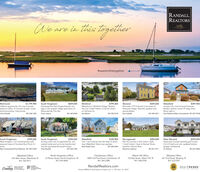 """RANDALL,REALTORSWeare in this TogetherLeadingtoether#weareinthistogether$1,799,900WakefieldSouth KingstownQuintessential New England beach cot-tage in the seaside village association ofMautucket-By-The-Sea.Travis Justice$859,000WickfordWaterfront in Wickford Village. Restorethis S br 2 bath Historic Colonial w/barnon half acre lot.Richmond$799,000Warwick$449,000$399,900Lifetime opportunitytto own a privatepreserve within 15 minutes of open oceanand surrounding tsalt ponds.Chris RandalIn-town 3 br, 2 ba Colonial VictorianModern kitchen, stone FP, large shed.Move right in.Renovate 1775 Colonial in the heart ofPawtuxet Village. Beautiful updates andperiod details.Sara Isabella857.540.1594401.369.0458Sue Moore401,952.9164401-996-5817Paul Robinson/Marc Archambault 401-207-s768South KingstownWest Kingston, 4 br Contomporary withseasonal views of Hundred Acre Pond. 2+Wakefield3 br, 1 ba Colonial near the heart of down-town Wakefield. Many new updates.Sheil Realty Team$339,800West WarwickGreenview Condos abutting golf course.2 br 2.5 bath end unit, updated kitchen,garage, hardwoods.Lie Shalvey$399,000South KingstownTurnkey ranch sits on supersized lot ren-ovated inside and out to be transformed$350,000NarragansettPlan for summer in this 2 bed 1 bath,1 level Condo. Close to Bonnet Shore,beaches, Narrow River.$285,000$254,900cres.into the quintessential beach house.401-265-5044Marc Archambault/Paul Robinson 401-207-5768Chris Randall857.540.1594Marianne Liebman401.871.4711401.641.2822North Kingstown Office23 Brown Street, North Kingstown, RI401.294.4000Charlestown Office4009 Old Post Road, Charlestown, RI401.364.3388Watch Hill Office124 Bay Street, Watch Hill, RI401.348.0700Westerly Office241 Post Road, Westerly, RI401.322.0357Wakefield Office235 Main Street, Wakefield, RI401.783.9611IPRandallRealtors.comLUXURYLeadingREAL ESTATECOMPANIESPORTFOLIOINTERNATIONAREALTRENDSFIVE HUNDRER.""""Source RIMLS 1 Real Estate Company Jan. 1, 1991-0Dec. 31, 2019 RANDALL, REALTORS Weare in this To"""