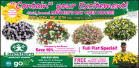 """mContain""""your Excitement!Mom'slove our giftcertificates!42nd Annual MOTHER'S DAY OPEN HOUSE!APRIL 30TH - MAY 10TH FREE TOMATO PLANTS FOR EVERYONE!CHanging basketphotos courfesy ofProven WinnersProvenwinnerS.comCheaper by the Dozenon Geraniums, New GuineaSave 10% Impatiens and Tuberous BegoniasFull Flat Special!Save when you buy a ful flat of a single varletyover the individual pack price.Landsburgover the individual pot price when you buy a dozen of a single variety.LANDSCAPE NURSERY218-829-5519""""Jack's ClassicFREE Blossom Booster""""go16460 Hwy 371 N. BrainerdLandsburgNursery.comHours Mon-Sat 9-5:30; Sun 10-5Open weeknights till 7pm starting May 4th.LakesPROUDfertilizer with every hanging basket purchase!While supplies last! Makes 1 gallon. Valid April 30-May 10, 2020 mContain"""" your Excitement! Mom's love our gift certificates! 42nd Annual MOTHER'S DAY OPEN HOUSE! APRIL 30TH - MAY 10TH FREE TOMATO PLANTS FOR EVERYONE! CHanging basket photos courfesy of Proven Winners ProvenwinnerS.com Cheaper by the Dozen on Geraniums, New Guinea Save 10% Impatiens and Tuberous Begonias Full Flat Special! Save when you buy a ful flat of a single varlety over the individual pack price. Landsburg over the individual pot price when you buy a dozen of a single variety. LANDSCAPE NURSERY 218-829-5519 """"Jack's Classic FREE Blossom Booster"""" go 16460 Hwy 371 N. Brainerd LandsburgNursery.com Hours Mon-Sat 9-5:30; Sun 10-5 Open weeknights till 7pm starting May 4th. Lakes PROUD fertilizer with every hanging basket purchase! While supplies last! Makes 1 gallon. Valid April 30-May 10, 2020"""